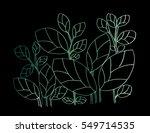 doodle textured leaf background.... | Shutterstock .eps vector #549714535