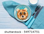 funny pancake in a shape of...   Shutterstock . vector #549714751