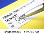 Small photo of Should children be allowed to work? Yes