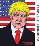 portrait of donald trump... | Shutterstock .eps vector #549718981