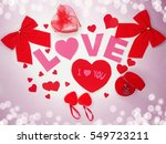 greeting card love valentine's... | Shutterstock . vector #549723211