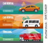 trucking and car rental banners.... | Shutterstock .eps vector #549723409
