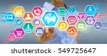 businesswoman using digital... | Shutterstock . vector #549725647