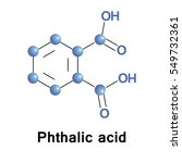 phthalic acid is an aromatic... | Shutterstock .eps vector #549732361