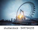 ferris wheel closeup  tianjin... | Shutterstock . vector #549734155