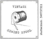 vintage sewing spool vector | Shutterstock .eps vector #549737311