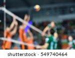 blurred volleyball match | Shutterstock . vector #549740464