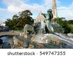 gefion fountain and st. alban's ... | Shutterstock . vector #549747355