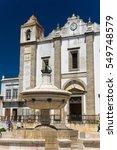 Small photo of Igreja de Santo Antao in praca do Giraldo in Evora, Portugal