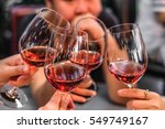 people drink wine enjoy to... | Shutterstock . vector #549749167