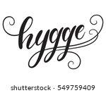 hygge hand lettering isolated... | Shutterstock .eps vector #549759409