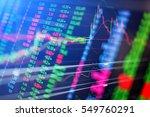 statistic graph stock market... | Shutterstock . vector #549760291