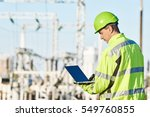 service engineer working with... | Shutterstock . vector #549760855