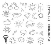 weather symbols | Shutterstock .eps vector #549761617
