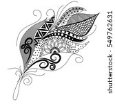 ornamental feather  swirly... | Shutterstock .eps vector #549762631