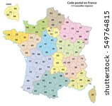 france 2 digit postcodes map... | Shutterstock .eps vector #549764815
