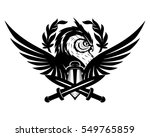 owl swords and wings. | Shutterstock .eps vector #549765859