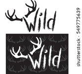 wild.hand drawn lettering | Shutterstock .eps vector #549775639