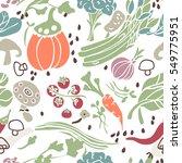 vegetable seamless pattern | Shutterstock .eps vector #549775951