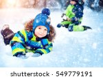 Children Playing In Snow At...