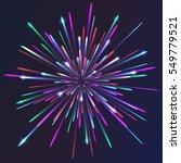 colored vector fireworks | Shutterstock .eps vector #549779521