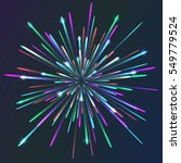 colored vector fireworks | Shutterstock .eps vector #549779524