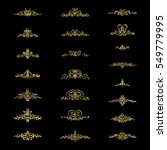vintage decor elements and...   Shutterstock . vector #549779995