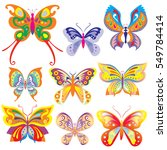 butterfly vector design... | Shutterstock .eps vector #549784414