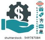 financial development gear hand ... | Shutterstock .eps vector #549787084