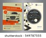 rent a car business flyer...   Shutterstock .eps vector #549787555