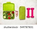 healthy lifestyle  food  sport...   Shutterstock . vector #549787831