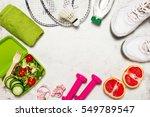 healthy lifestyle  food  sport...   Shutterstock . vector #549789547