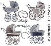set of vector baby prams hand...   Shutterstock .eps vector #549792439