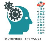 brain gears rotation icon with... | Shutterstock .eps vector #549792715