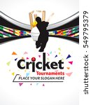 colorful cricket tournament... | Shutterstock .eps vector #549795379
