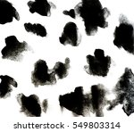 black background by watercolor... | Shutterstock . vector #549803314