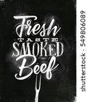 poster lettering fresh taste... | Shutterstock .eps vector #549806089
