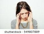 headache woman | Shutterstock . vector #549807889