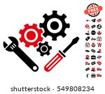 mechanics tools pictograph with ... | Shutterstock .eps vector #549808234