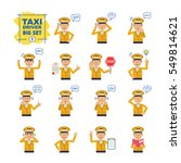 big set of taxi driver... | Shutterstock .eps vector #549814621