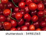 freshly picked heap of cherries | Shutterstock . vector #54981565