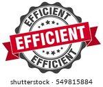 efficient. stamp. sticker. seal.... | Shutterstock .eps vector #549815884