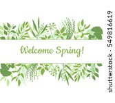 welcome spring green card... | Shutterstock .eps vector #549816619