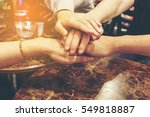 teamwork concept   people 's...   Shutterstock . vector #549818887