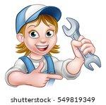 a plumber or mechanic handyman... | Shutterstock . vector #549819349