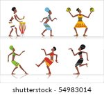 Vector Figures Of African...
