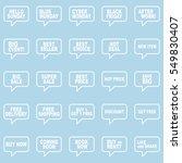 speech bubbles set.   Shutterstock .eps vector #549830407