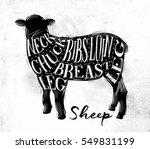 poster sheep lamb cutting...   Shutterstock .eps vector #549831199