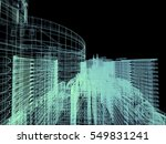 abstract architecture 3d... | Shutterstock . vector #549831241