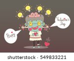 cute cartoon zombie hand draw... | Shutterstock .eps vector #549833221